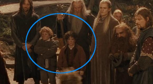 Los dobles de Frodo y Sam pillados